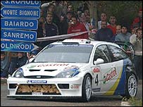 Markko Martin in action at San Remo