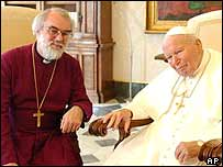 Dr Williams (left) and the Pope