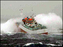Uruguayan-flagged ocean trawler, Viarsa, carrying what is believed to be a valuable cargo of Patagonian Toothfish