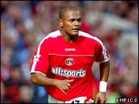 Charlton striker Shaun Bartlett