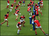 Entrenamiento de rugby.