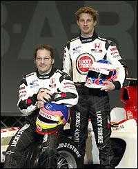 Villeneuve and Button row at start of 2003 season