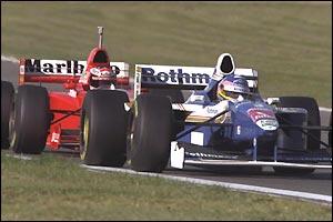 Schumacher becomes Villeneuves main challenger in 1997