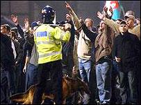 Cardiff City fans at Ninian Park