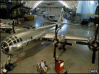 The newly reassembled and restored Enola Gay