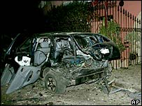 Aftermath of Casablanca bombings, May 2003