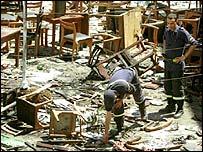 Bomb debris