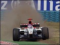 Jacques Villeneuve pushes beyond the limts of his BAR-Honda