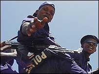 Congolese policemen