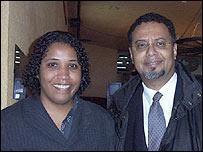 Flavia de Lima, del Núcleo de Estudios Negros de Brasil y Humberto Adami, de Group Affinity Affirmative Action