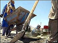 Building work in Afghanistan