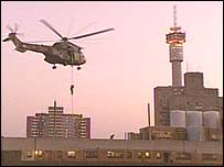 South Africa police helicopter