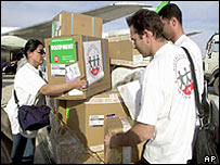 Food aid arrives in Iraq