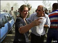 Scene near the blast