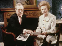 David Frost with Margaret Thatcher