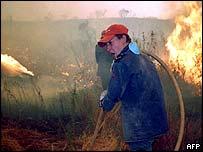 Portuguese firefighter