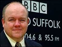 Gerald Main outside the Radio Suffolk offices