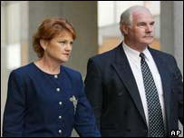 Pauline Hanson, left, and David Ettridge