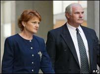 Pauline Hanson, left, and David Ettridge
