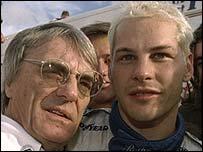 Bernie Ecclestone and Jacques Villeneuve