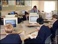 grammar school computer room