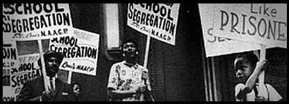 Most schools in the south were still segregated before the march