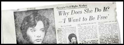 Joyce Barrett was featured in the Washington Post after the march