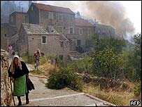 Residents flee fire on Croatian island of Hvar