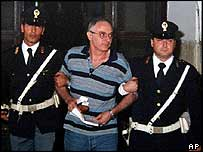 Salvatore Sciarabba under arrest