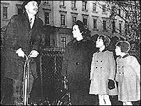 Enoch Powell on pogo stick