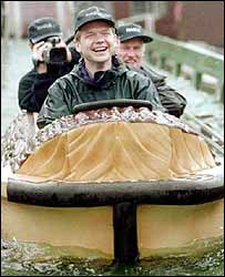 William Hague at theme park