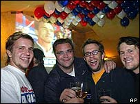 Election party in Graz bar