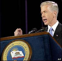 California Governor Gray Davis