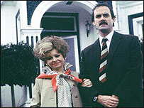 Prunella Scales and John Cleese