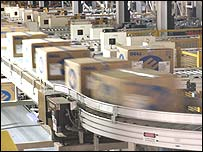 Dell packing line