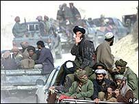 Taleban fighters in 2001
