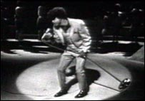 James Brown on the stage in the 1960s