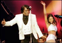 James Brown on stage in 2000