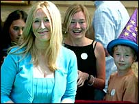 JK Rowling with fans