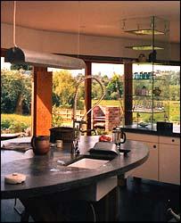 Interior of eco-friendly house