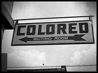 Waiting rooms were segregated