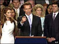 Arnold Schwarzenegger, gobernador electo de California