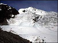 Glaciers in the Andes