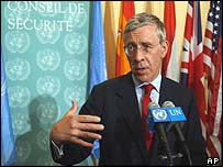 UK Foreign Secretary Jack Straw at UN