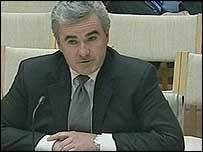 Andrew Wilkie speaking to the committee on 22 August