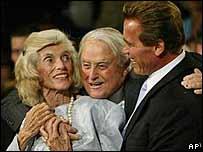 Eunice Kennedy Shriver, Sargent Shriver and Arnold Schwarzenegger