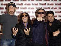 Metallica at the Kerrang! Awards