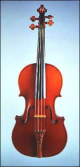 The Messiah violin (pic courtesy of the Ashmolean Museum, Oxford)
