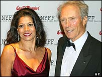 Clint Eastwood and wife Dina Ruiz