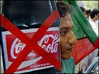 Protests against Coca Cola drinks in Delhi